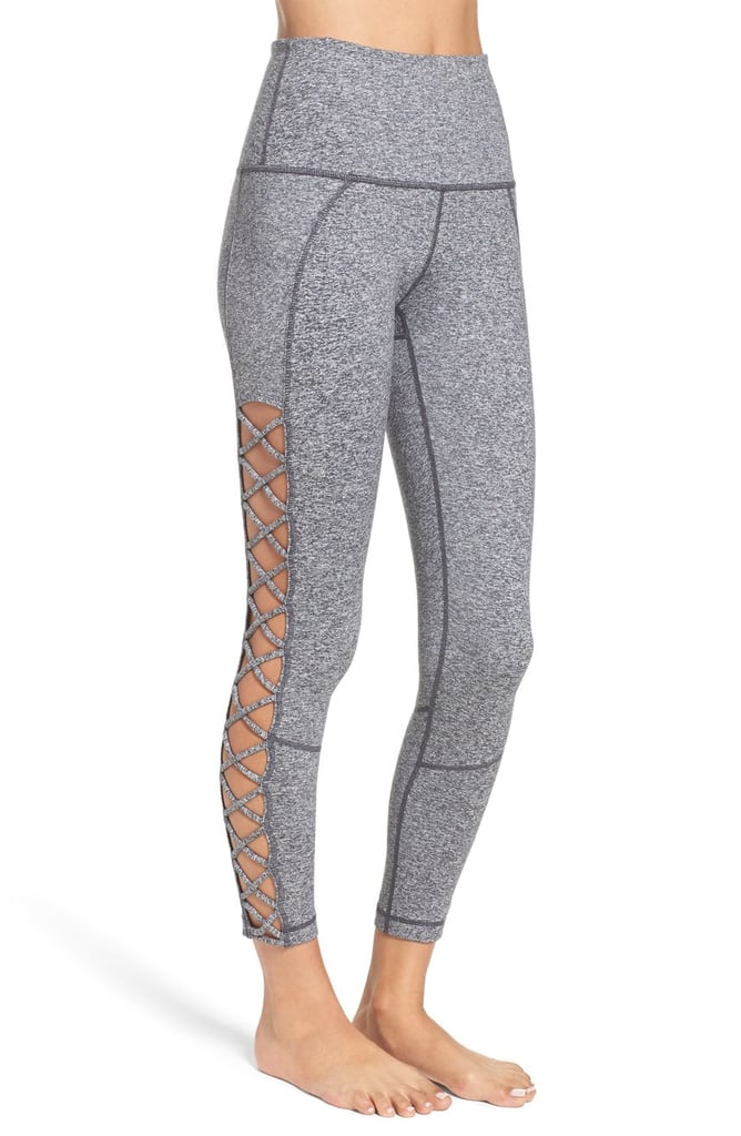 Zella Lace It Up High Waist Crop Leggings