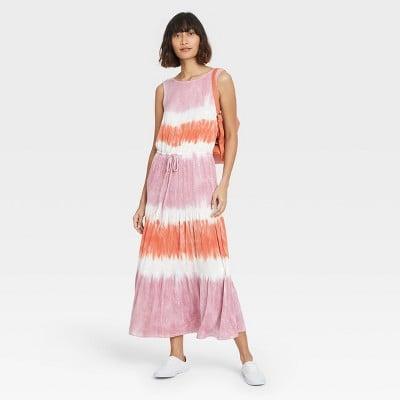 Tie Dye Treatment: Knox Rose Sleeveless Knit Dress