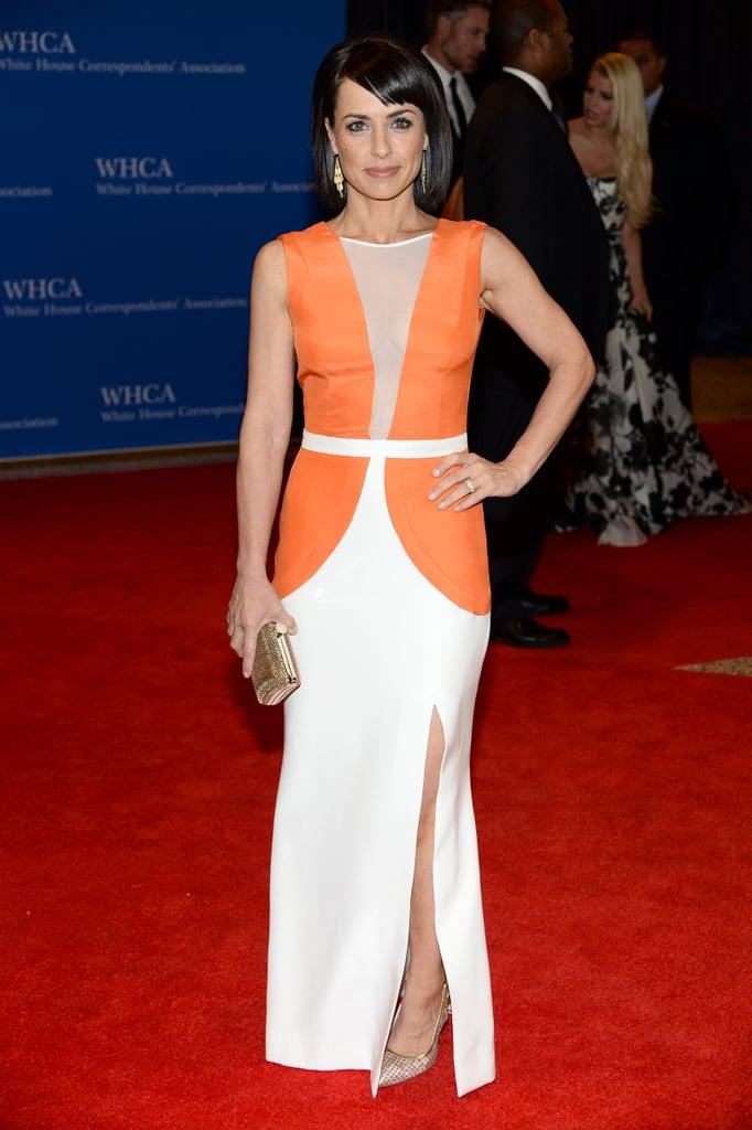 Constance Zimmer was bold in orange.