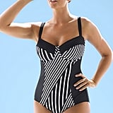 Striped Underwire Swimsuit