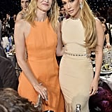 Laura Dern and Jennifer Lopez at the 2020 Critics' Choice Awards