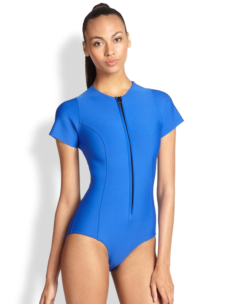 804637521e2e6 Lisa Marie Fernandez Swimwear Bonded Farrah Swimsuit   Ciara Blue ...
