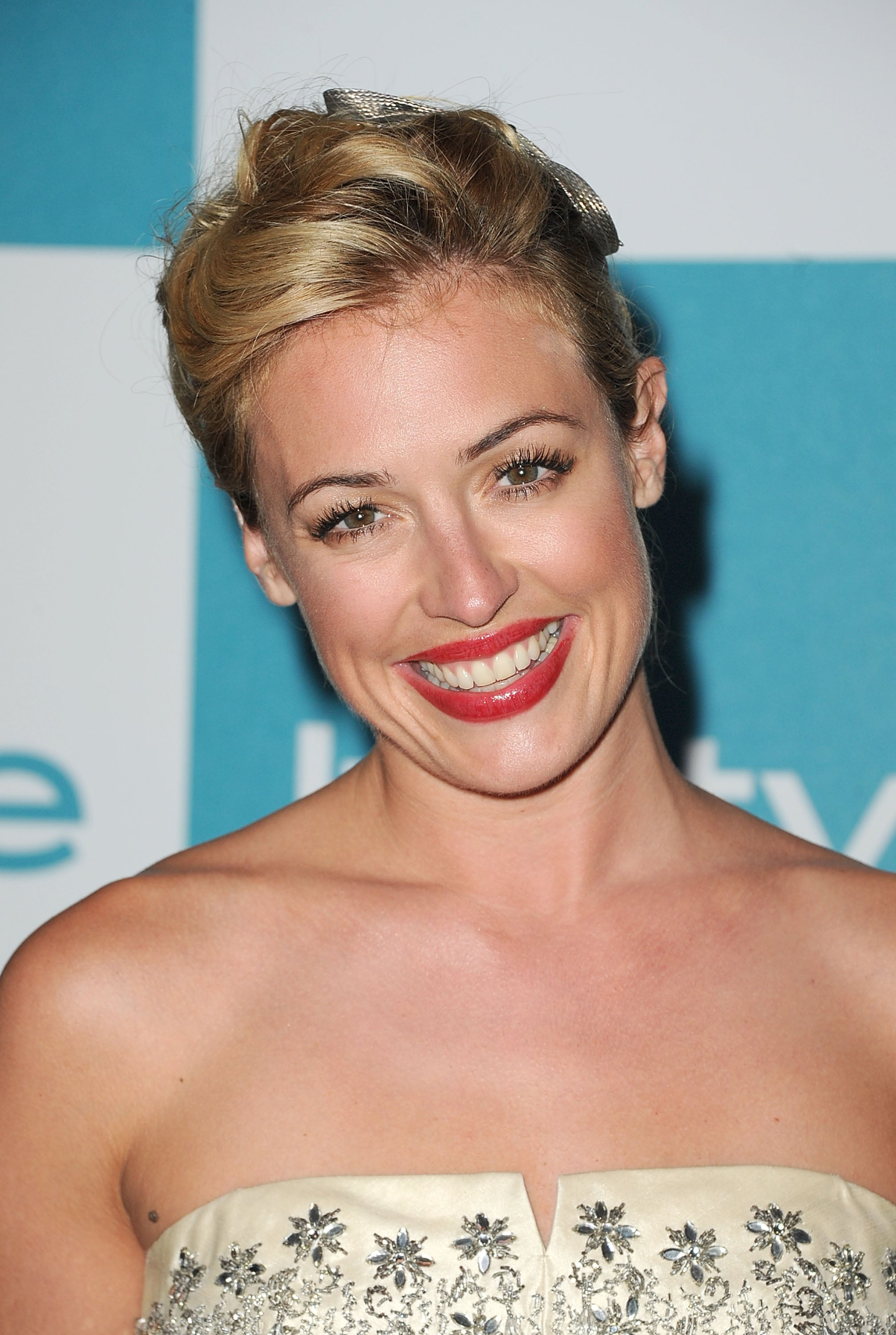 Cat Deeley smiles at the 10th annual InStyle Summer soiree.