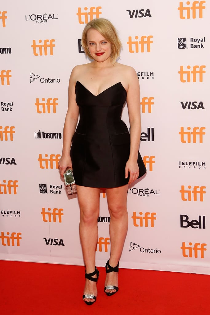 She wore a Stella McCartney mini dress with Giuseppe Zanotti heels to the 2016 Toronto International Film Festival.