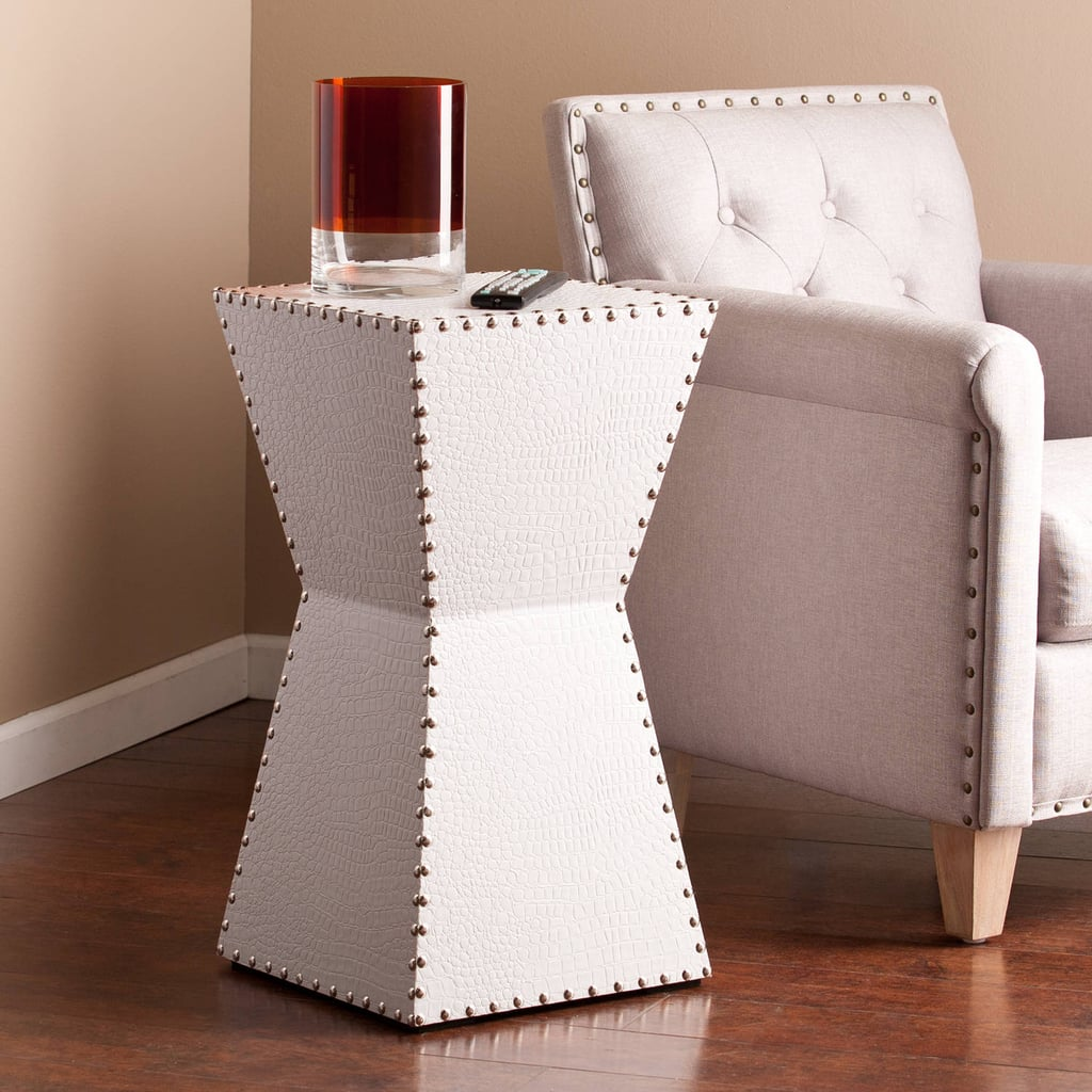 Southern Enterprises Dylan Faux Leather Accent Table