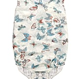 Butterfly-Printed Sleeveless Onesie
