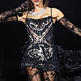 Our favorite Spice Girl, Posh, looked sexy in a lace confection during the Spice Girls world tour in London in 2008.