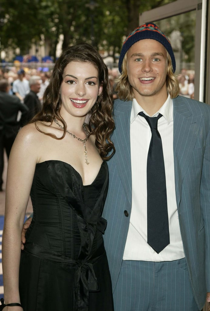 Nicholas Nickleby costars Anne Hathaway and Charlie Hunnam linked up for photos at the movie's London premiere in 2003.