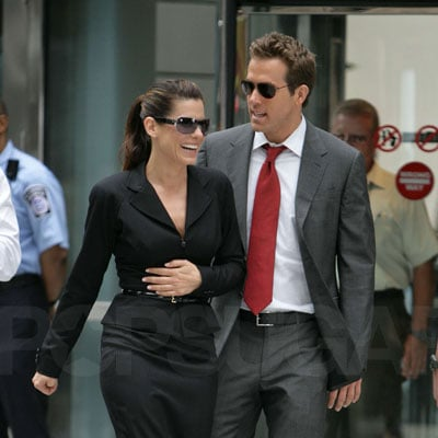 Ryan Reynolds and Sandra Bullock Film the Proposal in NYC