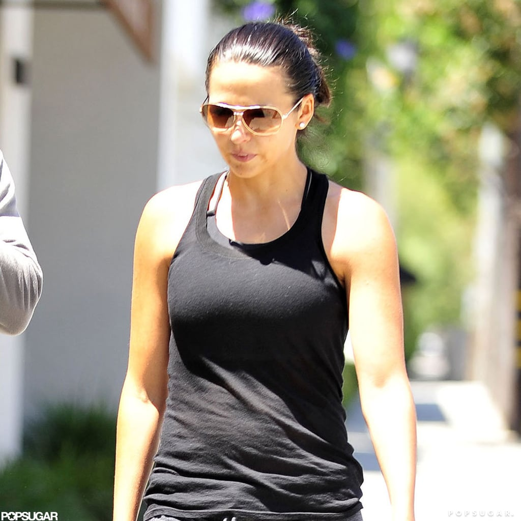 Luciana Damon wore a black tank.