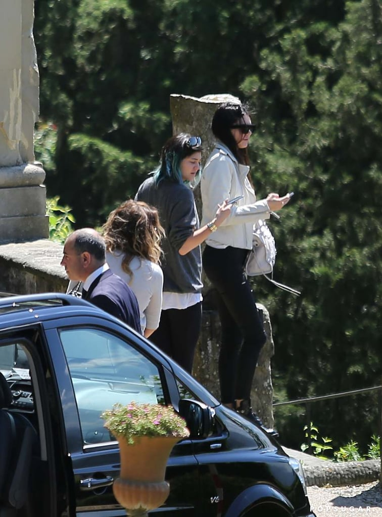 Kylie and Kendall checked out the scene.