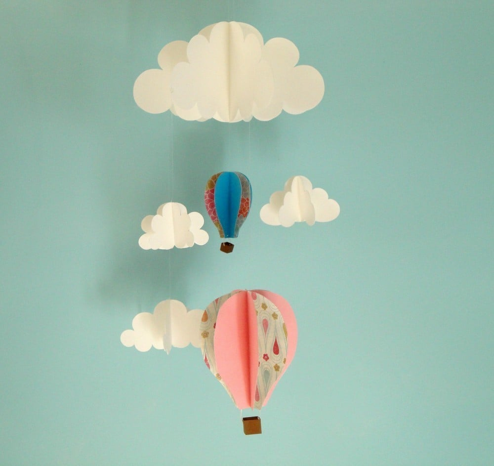 hot air balloon mobile  cool baby mobiles  popsugar moms photo  -