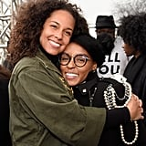 Pictured: Alicia Keys and Janelle Monáe