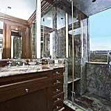 Each bathroom in the home is done in high style.