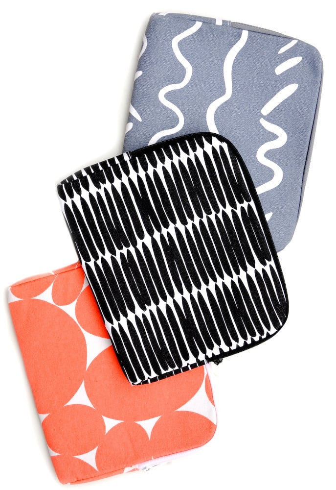 Dress up an iPad with these Printed Canvas Cases ($26) from Leif Shop.