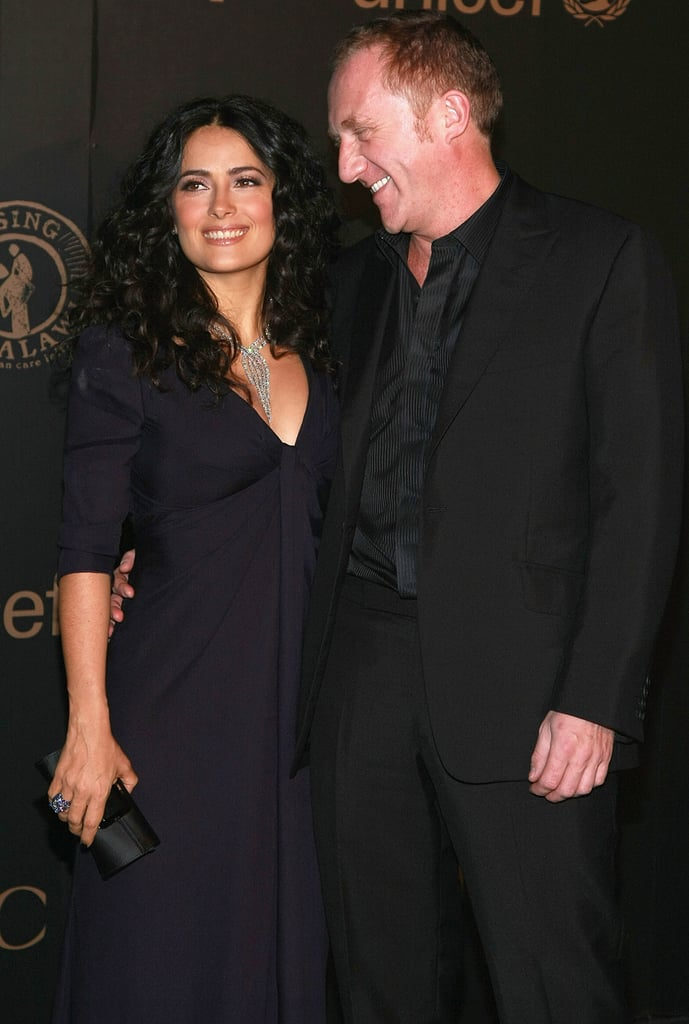 It has been nine years since Mexican-born actress Salma Hayek and her husband, French businessman Francois-Henri Pinault, married on Valentine's Day in Venice, Italy, with their daughter, Valentina, at their side. Since then, Salma and Francois-Henri have attended countless fashion shows and art exhibitions, generally looking adorable, in love, and happy to show a little PDA.  In honor of the power couple, we're rounding up their sweetest public moments from as far back as the beginning of their courtship in 2006.
