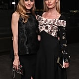 Kate posed with fellow style savant Olivia Palermo during dinner.