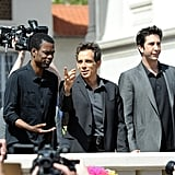 Chris Rock, Ben Stiller, and David Schwimmer got together for a photo shoot for Madagascar 3 at the Cannes Film Festival.