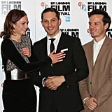 Having a laugh with Ruth Wilson and Andrew Scott at the Locke London Film Festival screening in 2013.
