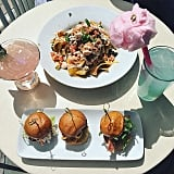 Lobster nachos and cotton candy lemonade at Cove Bar