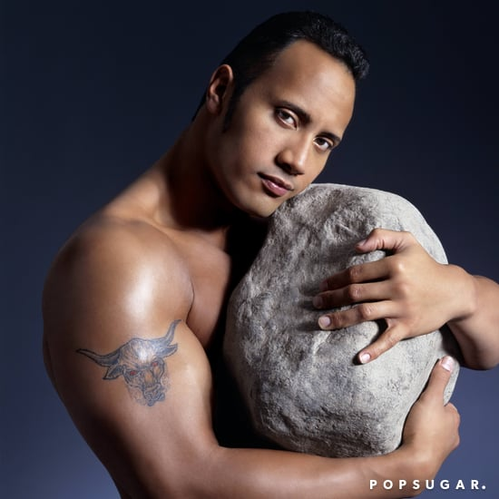Dwayne Johnson Posing With a Rock Photos