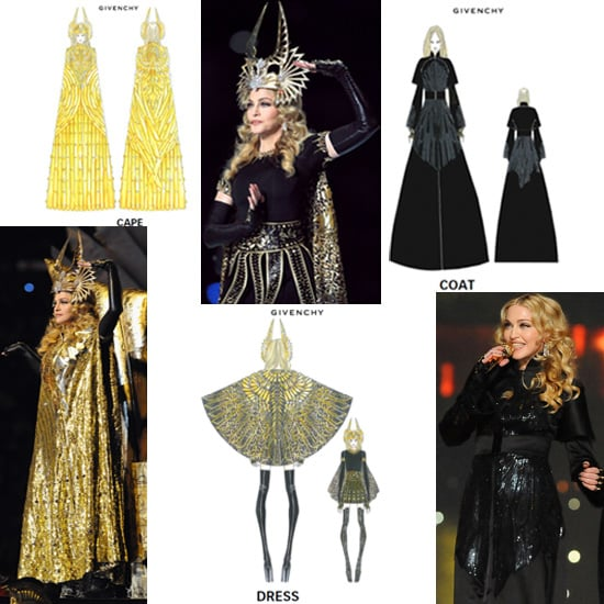 Madonna Wears Givenchy Haute Couture Costumes to the Super Bowl