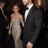 Elsa Pataky and Husband Chris Hemsworth Making Their Way Into the Beverly Hilton Hotel
