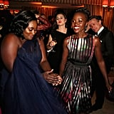 Lupita Nyong'o danced the night away at The Weinstein Company and Netflix's bash.