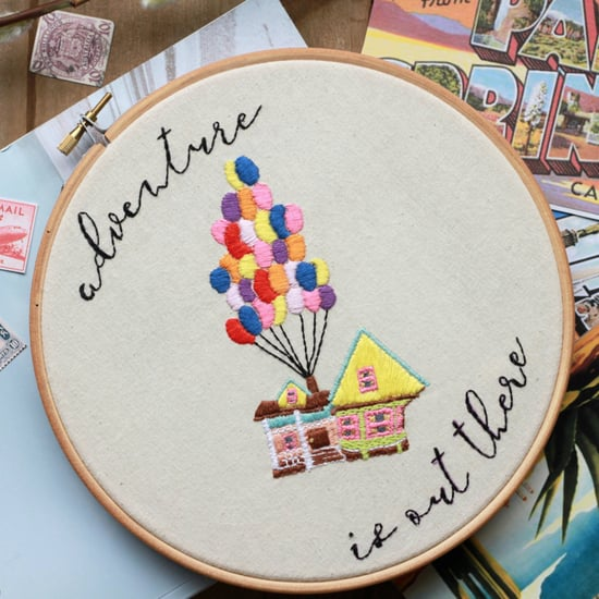 Disney Quote Embroidery Hoops