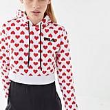 Queen of Hearts Cropped Hoodie Sweatshirt