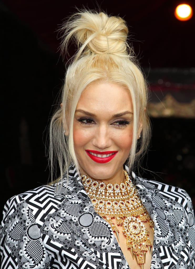 Gwen Stefani rocked an intricate necklace from an upcoming L.A.M.B. collection to the event.