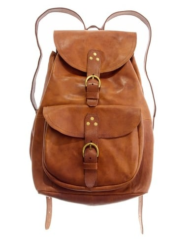 A vintage-inspired cut made in buttery soft leather.  Madewell Leather Railway Backpack ($235)