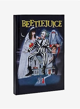 Beetlejuice Movie Poster Hardcover Ruled Journal