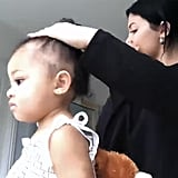 Kylie Jenner Does Stormi's Hair
