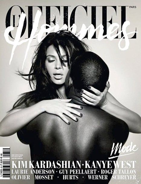 On the March cover French magazine L'Officiel Hommes, Kanye gave fans a glimpse of his very passionate relationship with Kim.