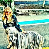 """Fergie palled around with the """"dread dog."""" Source: Twitter user Fergie"""