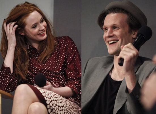 Photos of Matt Smith and Karen Gillan in New York Promoting Doctor Who