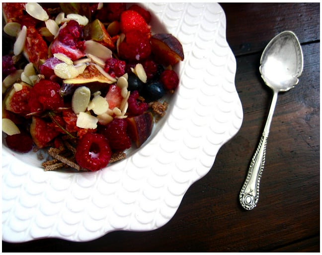 Warm Bran With Figs and Berries