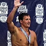 Ryan waved after winning at the 2012 Charlotte UltraSwim Grand Prix.