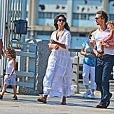 Matthew McConaughey, Camila Alves, Levi McConaughey, and Vida McConaughey explored Manhattan.