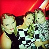 Rosie Huntington-Whiteley, Jessica Alba, and Kelly Sawyer partied together at a Golden Globes afterparty. Source: Instagram user rosiehw