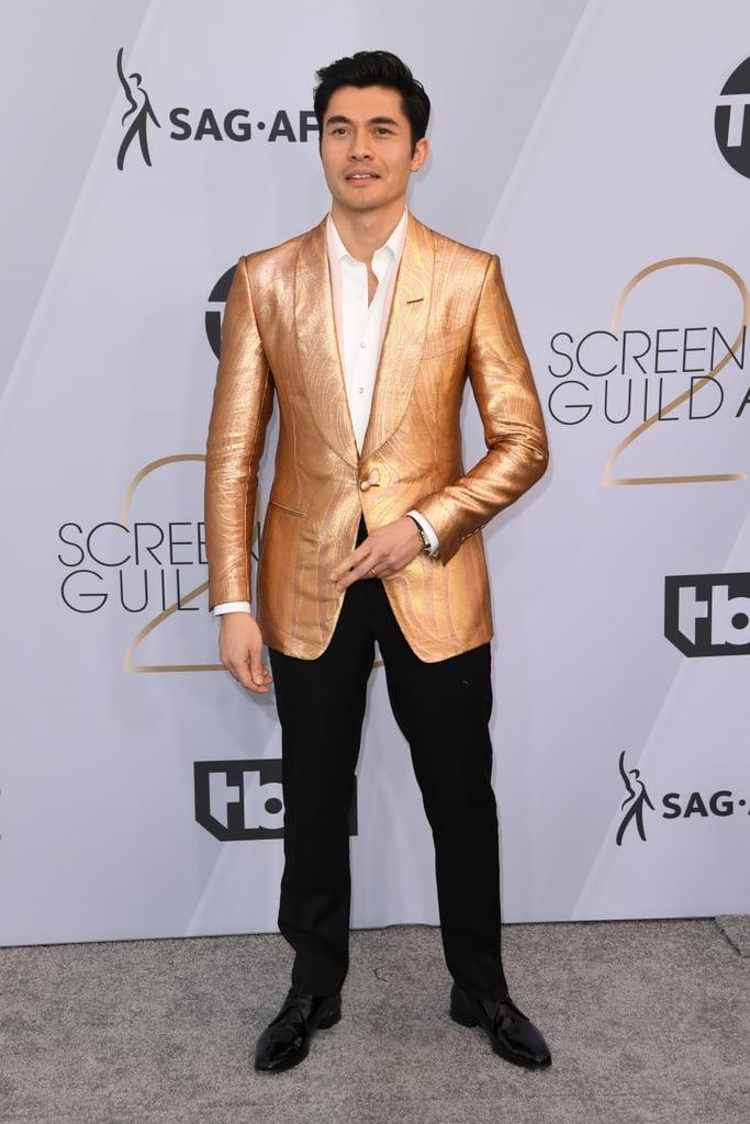 Henry Golding at the 2019 SAG Awards