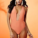 Forever 21 Plunging One-Piece Swimsuit