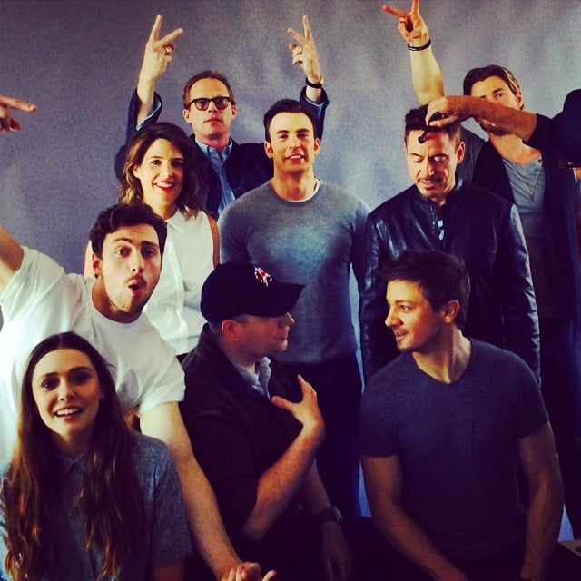 "Mark Ruffalo shared a behind-the-scenes shot of ""the Avengers (almost) assembled."" Source: Instagram user markruffalo"