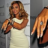 Beyoncé opted for a tattoo instead of a ring when she and Jay Z got engaged. The singer later wore her wedding ring over the roman numeral four, a number of significance to the couple. In 2014, though, it looked like Bey may have had the ink removed.