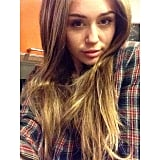 Miley Cyrus tried on a set of wigs (including one reminiscent of Hannah Montana). Source: Instagram user mileycyrus