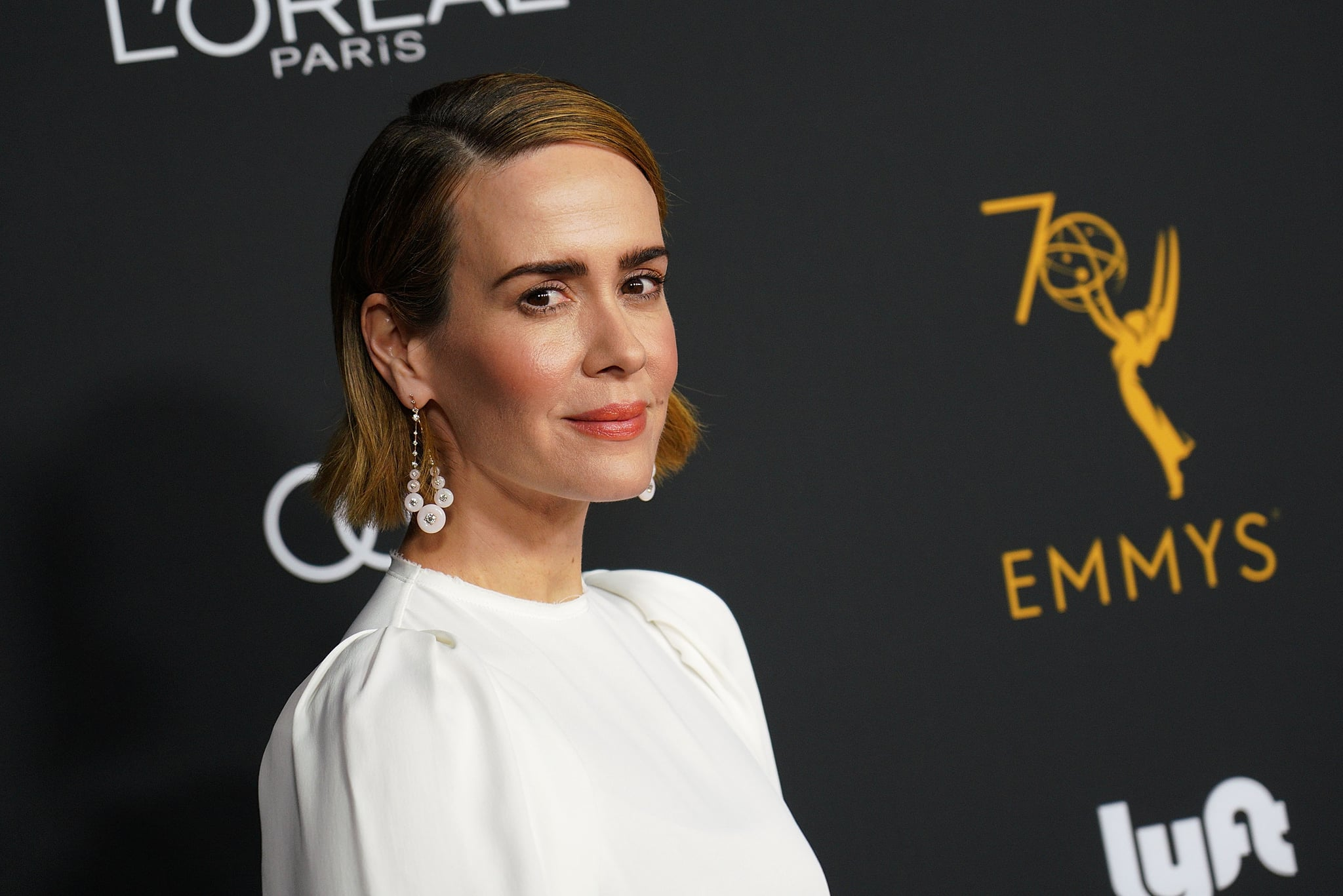 BEVERLY HILLS, CA - SEPTEMBER 15:  Actor Sarah Paulson attends the Television Academy Honors Emmy Nominated Performers at Wallis Annenberg Center for the Performing Arts on September 15, 2018 in Beverly Hills, California.  (Photo by JC Olivera/WireImage)