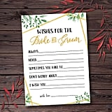 Wishes For Bride and Groom Printable Bridal Shower Game