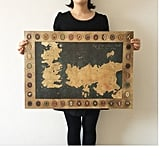 Game of Thrones Vintage World Map, $5.99