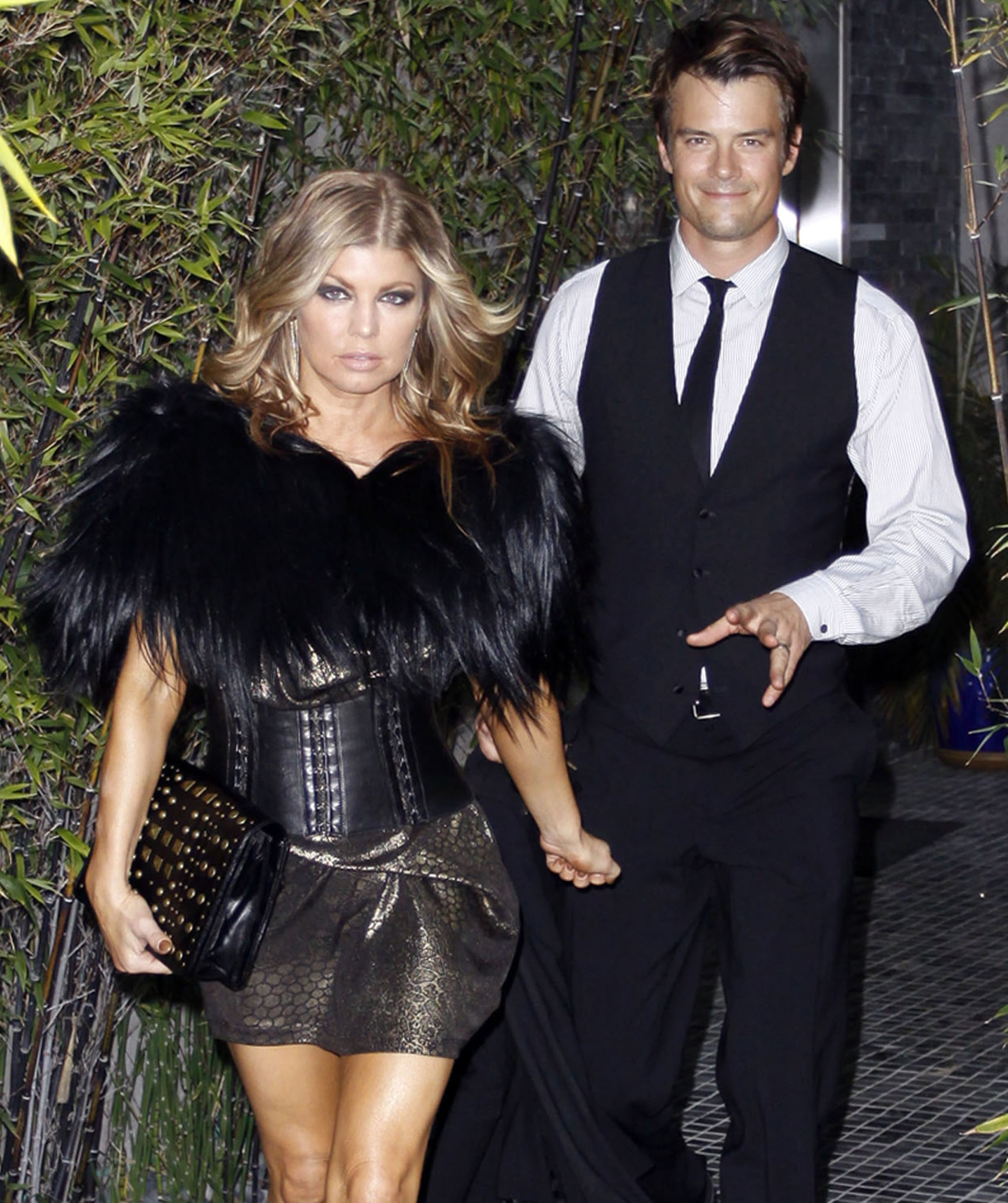 Fergie led the way with Josh Duhamel in March 2011 for her Black Eyed Peas member Keith Harris's wedding in LA.